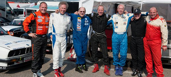 left to right: Mathijs Bakker, Ruben Anders, Randall Lawson, Dirk v/d Meer,  Ronald van Ooijen, Michael v/d Heijden, Mark Harmsen (Zandvoort 19th May 2012)